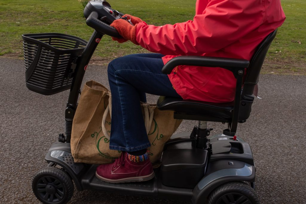 Will you be using your mobility scooter on the pavement or road?